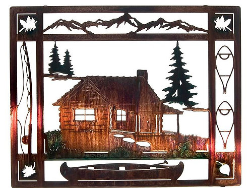 At The Cabin By Neil Rose - Nature Metal Wall Art