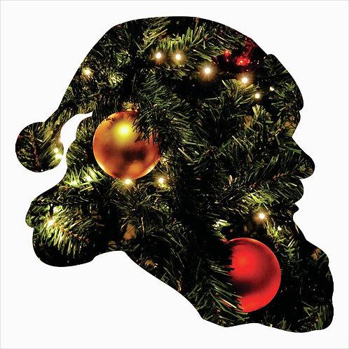 Santa Claus Silhouette Metal Laser Cut Wall Décor