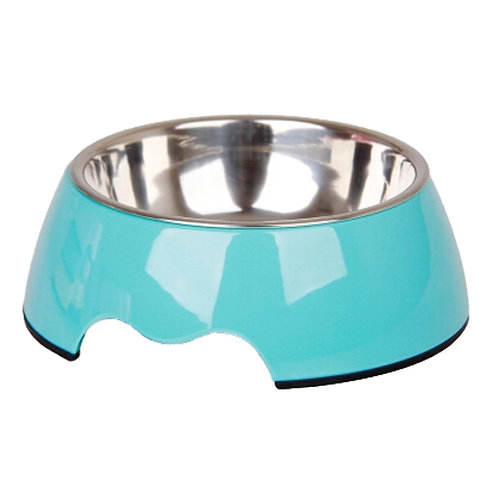 Separable Stainless Steel Pet Bowl Feeding Tray Dog Bowl Puppy Feeders, Blue