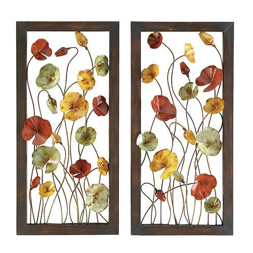 Floral Metal Wall Décor Set (Set of 2)