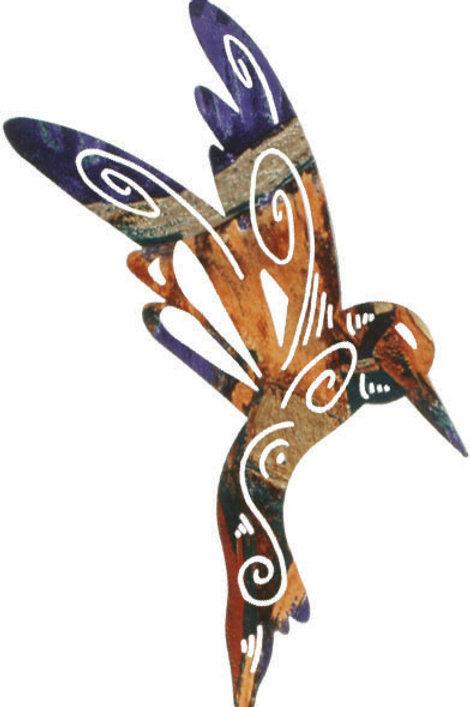 Magic Hummingbird By Robert Shields - Nature Metal Wall Art