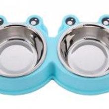 Little Double Bowls Set Feeding Pot/Pet Bowls/Dog Bowls For Food & Water