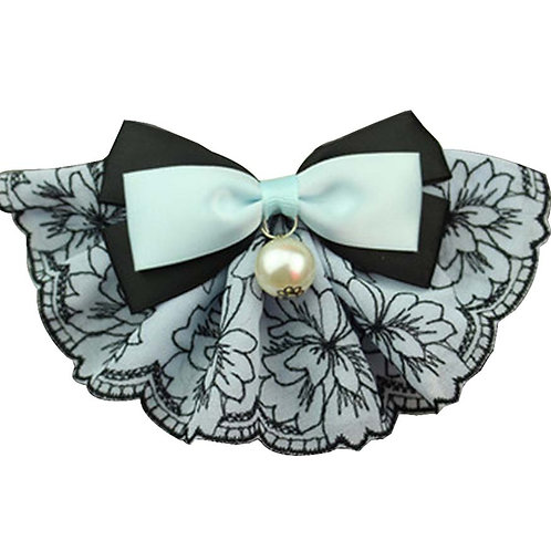 Pet Necklace Pet Cat And Dog Bell Bow Tie Accessories [Pearl Style-3]