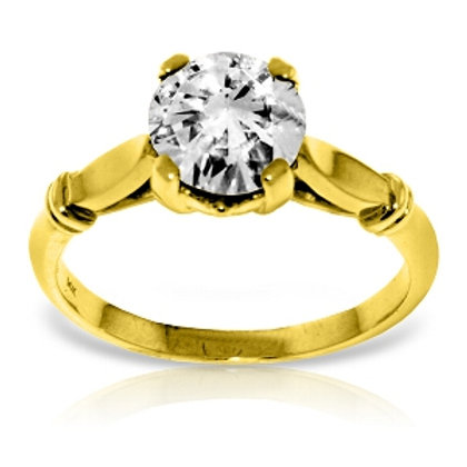 1 Carat 14K Solid Yellow Gold Solitaire Diamond Ring Si3