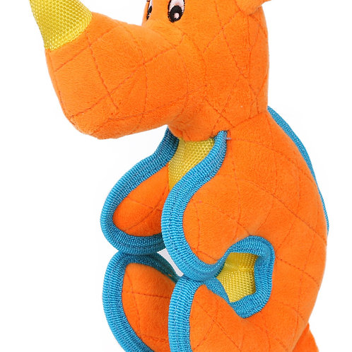 Cartoon Funimal Plush Animal Squeak Chew Tug Dog Toy