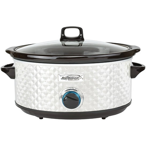 Brentwood Appliances 7-Quart Slow Cooker (Pearl White)