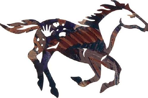Painted Pony By Robert Shields - Western Laser Cut Metal Wall Art