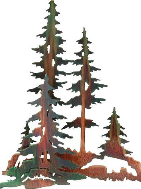 Pine Trees By Neil Rose - Nature Metal Wall Art