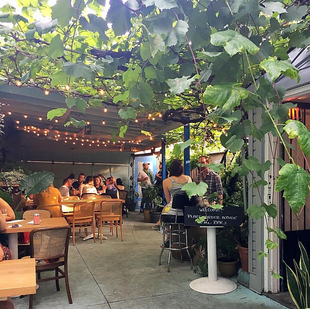 Paradise Grapevines back patio