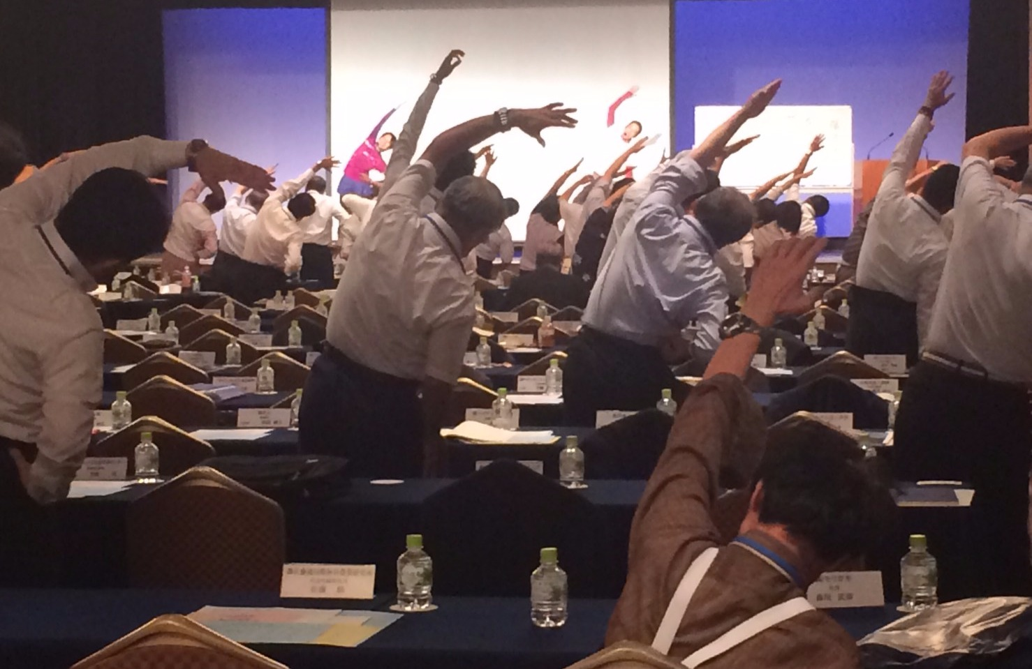 全国経営者大会での健康支援