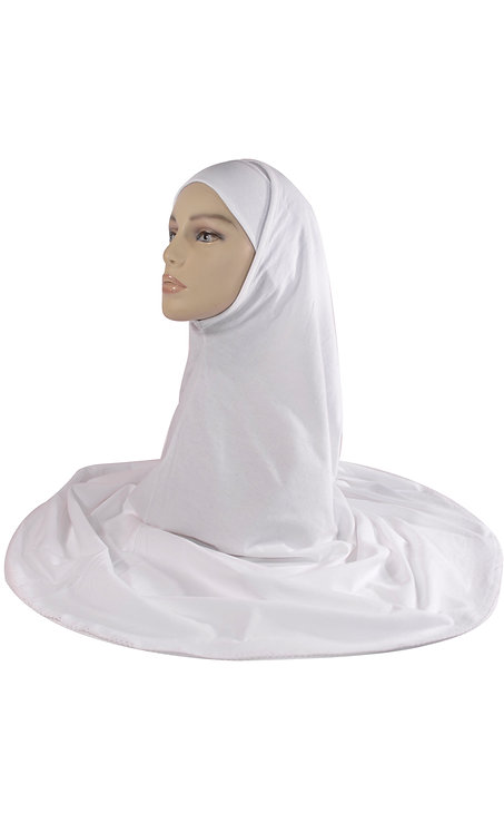 2 Piece White Cotton Hijab