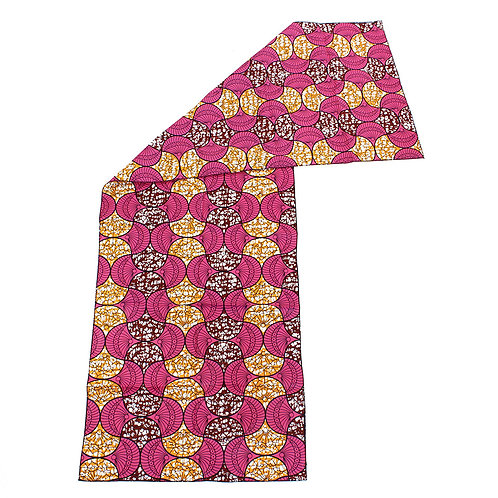 African Print Head Wrap Pink/Orange