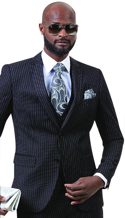 3pc Mens Pinstripe Fashion Suit