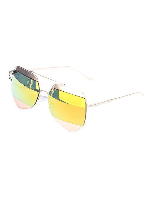 Angular Metal Rim Sunglasses