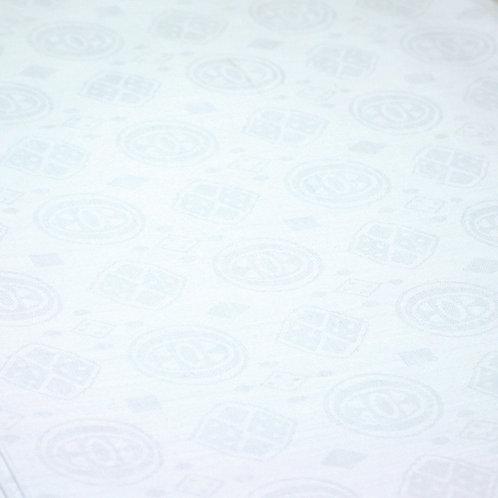 African Brocade Fabric 30 Yards: White