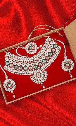 Art Pearl Jarkan & Kundan Necklace Set