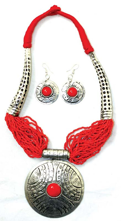 Beaded Breastplate Necklace Set