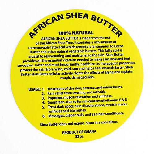 32 oz. Shea Butter Labels: Set Of 12