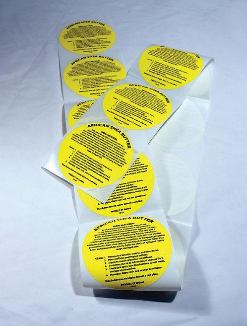 12 oz. Shea Butter Labels: Set Of 12
