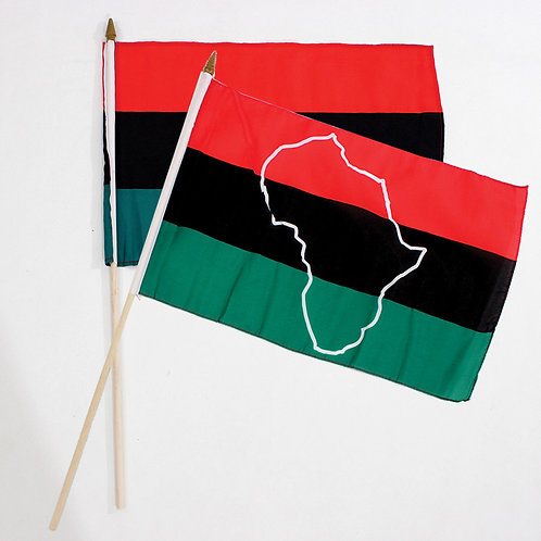 """12x18"""" African American Stick Flag"""