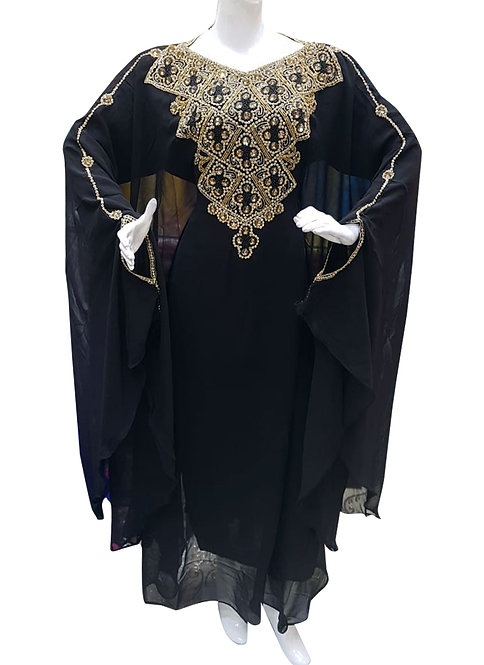 Black Airline Kaftan