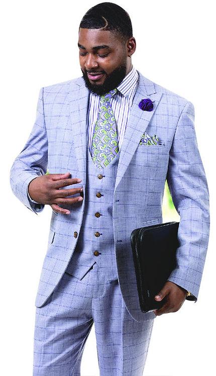 3pc Plaid Mens Fashion Suit