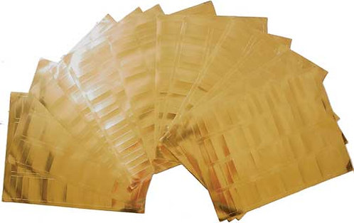 """10 Sheets Of GOLD Labels - ½"""" x 1¾"""""""