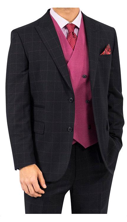3pc Suit With Raspberry Vest