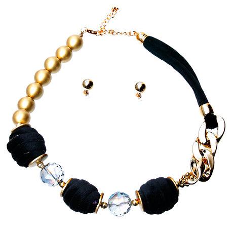 Black Velvet Necklace Set