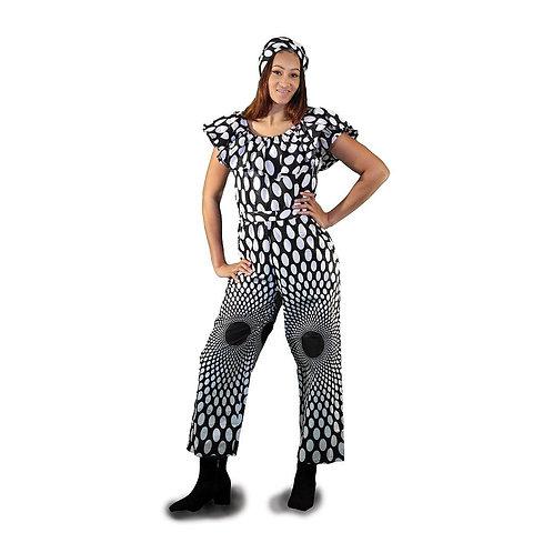 Black & White Polka Dot Jumpsuit