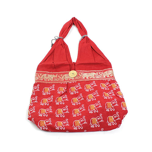 African Elephant Handbag - Red