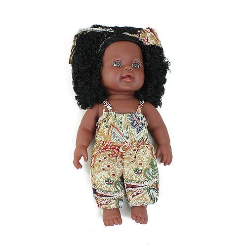 African Print Kiss Me Doll