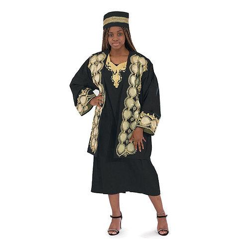 African Royalty Dress & Jacket Set