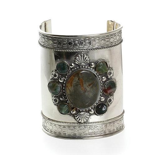 7-Stone Silver Cuff