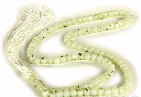 100 prayer beads - Cream