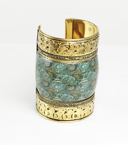 Antique Turquoise Royalty Long-Cuff