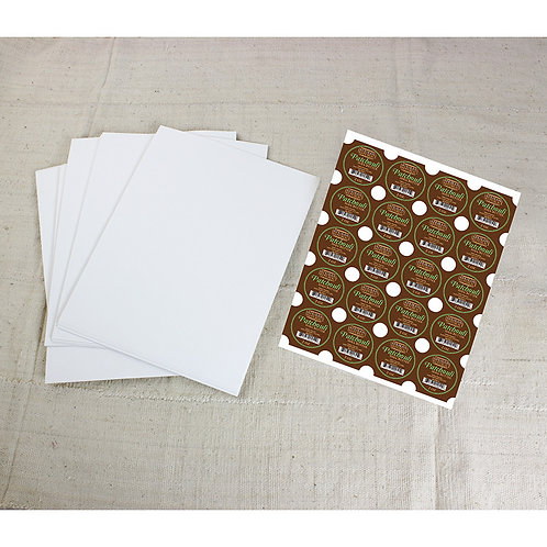 """100 2"""" White Glossy Circle Labels"""