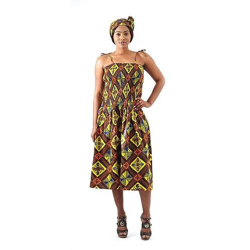 African Royalty Print Dress