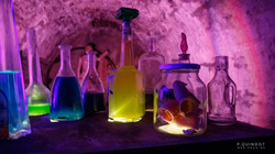 potion dans une caveau de château