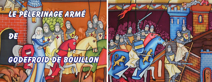 fresque exposition de godefroid de bouillon
