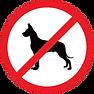 pictogramme interdit aux chiens