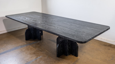 Black Cerused Dining Table