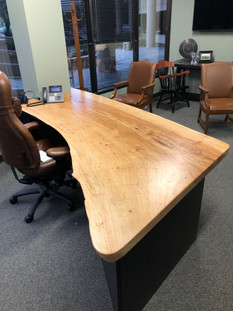 Live Edge Slab Desk