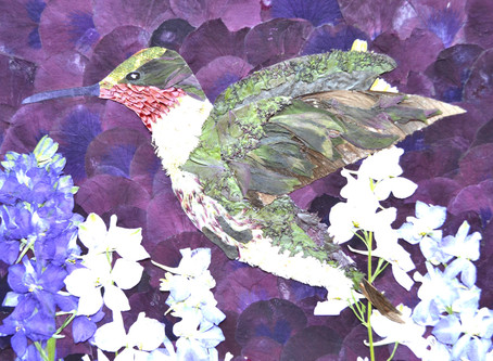 How to create a Hummingbird on the Pressed Plant Art.