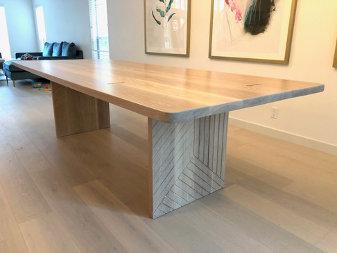 White Oak Dining Table