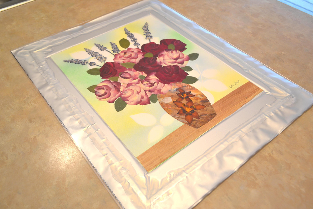 Vacuum-sealed Pressed Plant Art without mat and frame.