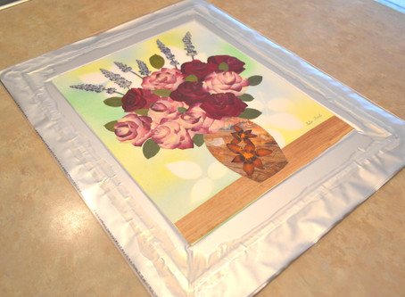 Vacuum sealing of pressed plant art