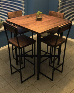 Walnut Table with Steel Base
