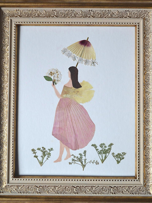 A girl with a parasol
