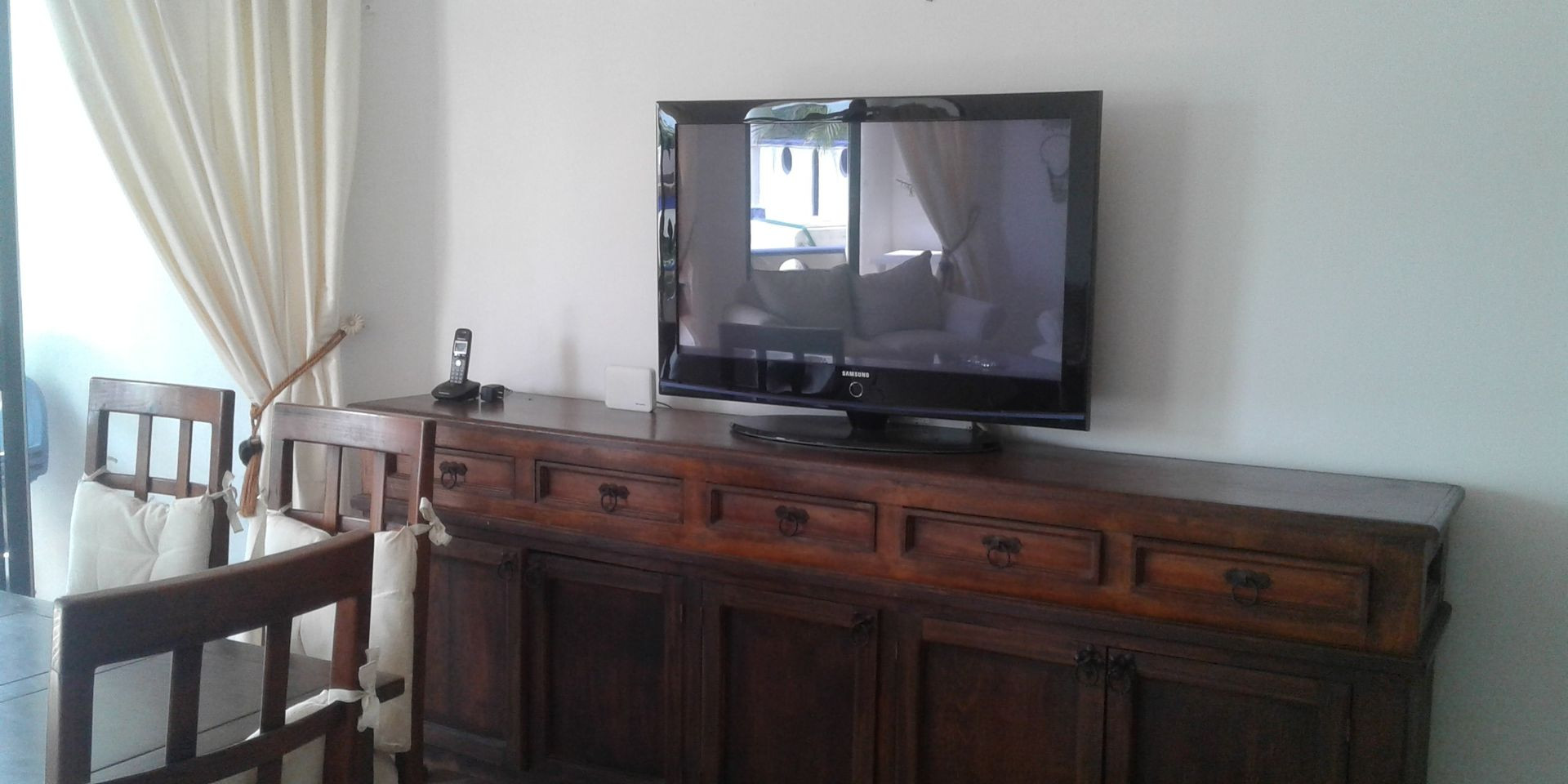 Large flat screen TV for your enjoyment